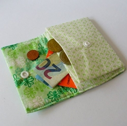 "Mini-Geldbeutel ""fresh green"" 10 x 8 cm von frollein cosa -"