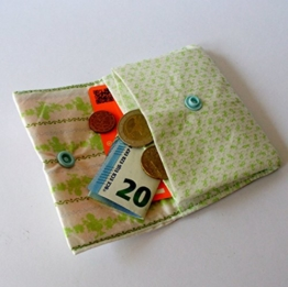 """Mini-Geldbeutel """"light green"""" 10 x 8 cm von frollein cosa -"""
