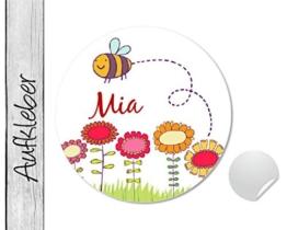 Namensaufkleber • Bienchen • 24 Stück (N55) Aufkleber / Sticker vom Papierbuedchen -
