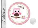 Namensaufkleber • Eule Dots • 24 Stück (N9) Aufkleber / Sticker vom Papierbuedchen -
