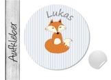Namensaufkleber • Fuchs • 24 Stück (N13) Aufkleber / Sticker vom Papierbuedchen -