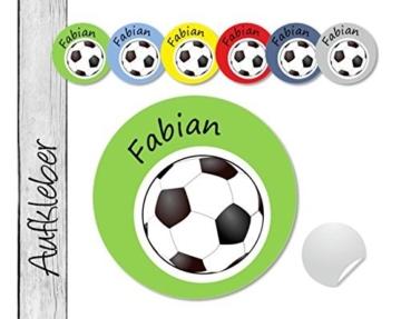 Namensaufkleber • Fußball • 24 Stück (N71) Aufkleber / Sticker vom Papierbuedchen -