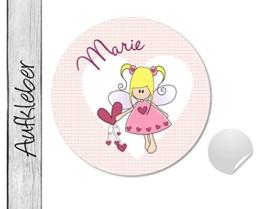 Namensaufkleber • Herzengel • 24 Stück (N82) Aufkleber / Sticker vom Papierbuedchen -