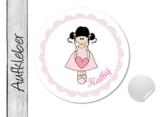 Namensaufkleber • Herzmädchen • 24 Stück (N20) Aufkleber / Sticker vom Papierbuedchen -