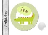 Namensaufkleber • Krokodil • 24 Stück (N22) Aufkleber / Sticker vom Papierbuedchen -