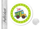 Namensaufkleber • LKW bunt • 24 Stück (N23) Aufkleber / Sticker vom Papierbuedchen -