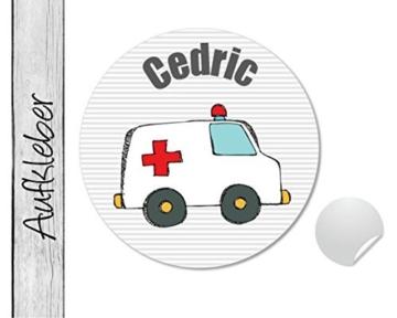 Namensaufkleber • Notarzt • 24 Stück (N51) Aufkleber / Sticker vom Papierbuedchen -