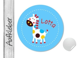 Namensaufkleber • Pferdchen türkis • 24 Stück (N26) Aufkleber / Sticker vom Papierbuedchen -
