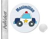 Namensaufkleber • Polizei • 24 Stück (N52) Aufkleber / Sticker vom Papierbuedchen -