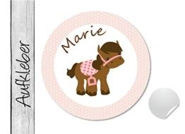 Namensaufkleber • Pony • 24 Stück (N46) Aufkleber / Sticker vom Papierbuedchen -
