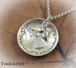 Namenskette, crystal Angel, 925 Silber, Schutzengel Anhänger -