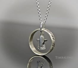 Namenskette, Engelsrufer, Schutzengel, 925 Silber -