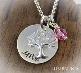 Namenskette *Lebensbaum* 925 Silber -