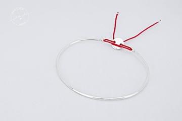 NELL - zarter layering Armreif (925 Sterling Silber & Nylon) -
