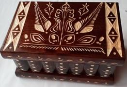 Neu Groß Holz Braun Puzzle Kasten Rätsel Geheim Schön handgeschnitzte Holz Schmuck Aufbewahrungs box Fall Besondere Holz Spielzeug -