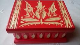 Neu Rosa Magie Rätsel Puzzle Geheimfach Schmuckkasten schön handwerk handarbeit Holz schatulle Zauber kästen -