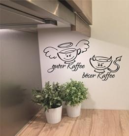 """*NEU* Wandtattoo f. Küche/Esszimmer/Büro ***GUTER Kaffee - BÖSER Kaffee"""" m. Größen u. Farbauswahl (40cm) -"""