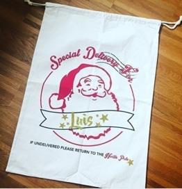 Nikolaussack Weihnachtsmannsack Geschenkbeutel XXL - 2 Designs -