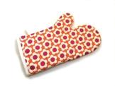 Ofenhandschuh Backhandschuh retro Blumen orangen -