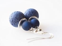 Ohrringe blau dunkelblau Polarisohrringe -
