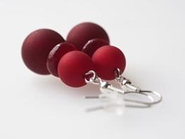 Ohrringe bordeaux rot Polarisohrringe -
