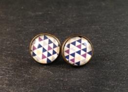Ohrringe Stecker Bronze Dreiecke -