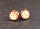 Ohrringe Stecker Bronze Schrift -