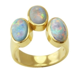 Opal Ring 3,20 ct. (Gelbgold 585) Opalring -