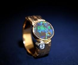 Opal Ring Brillant 18 Karat Gold -