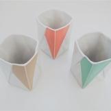 Origami Becher aus Porzellan -