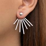 Paar Ohr Jacken Ohrringe, 925 Sterling Silber moderne Ohrstecker Ear Jacket handgefertigt von Emmanuela -