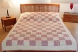 """Patchwork-Quilt-Decke """"Fascino die Disegno"""" - Decke 220 cm x 170 cm -"""