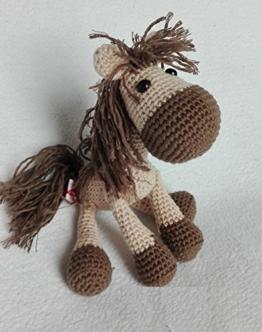 Pferdchen Sunny - hellbraun / beige - BIO Wolle -