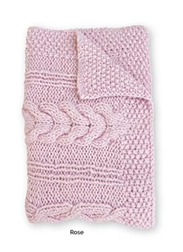 "Plaid ""SODER"" Rosa skandinavischen Stil skandinavische Dekoration / -"