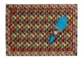 Platzdeckchen Tischset Platzset mit Serviettenring Gobelin Multicolor mit rot 45 x 33 cm -