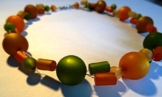 "Polaris-Kette "" orange-oliv"" -"