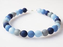 Polariskette blau grau Kette Collier -