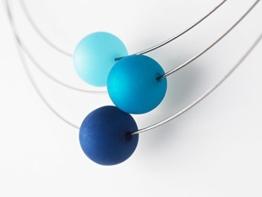 Polariskette blau türkis Kette dunkelblau -