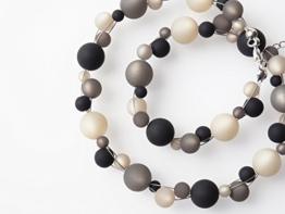 Polariskette grau schwarz Kette Collier -