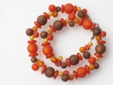 Polariskette orange kupfer rost braun Kette Collier -