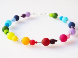 Polariskette Regenbogen bunt Collier Kette mit Swarovski® Kristallen -