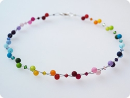 Polariskette Regenbogen bunt Kette mit Swarovski® Kristallen -