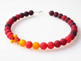 Polariskette rot orange bordeaux Collier Kette Rottöne -