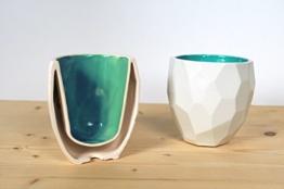 Poligon Thermo Tasse - Thermisch - keramik - dutch - design - geschenk -