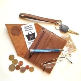 Portemonnaie aus Leder Braun -