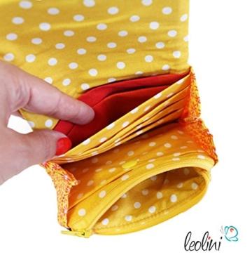 Portemonnaie Geldbeutel Brieftasche Geldbörse Blumen - handmade, Unikat von Leolini -