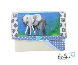 Portemonnaie Geldbeutel Brieftasche Geldbörse Elefant - handmade, Unikat von Leolini -