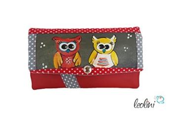 Portemonnaie Geldbeutel Brieftasche Geldbörse Eulen - handmade, Unikat von Leolini -