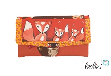 Portemonnaie Geldbeutel Brieftasche Geldbörse Fuchs - handmade, Unikat von Leolini -