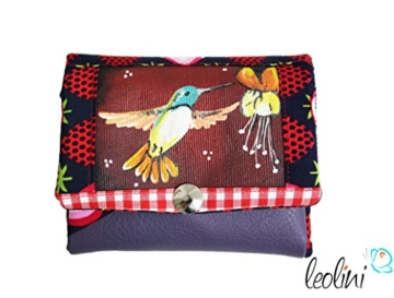 Portemonnaie Geldbeutel Brieftasche Geldbörse Kolibri - handmade, Unikat von Leolini -